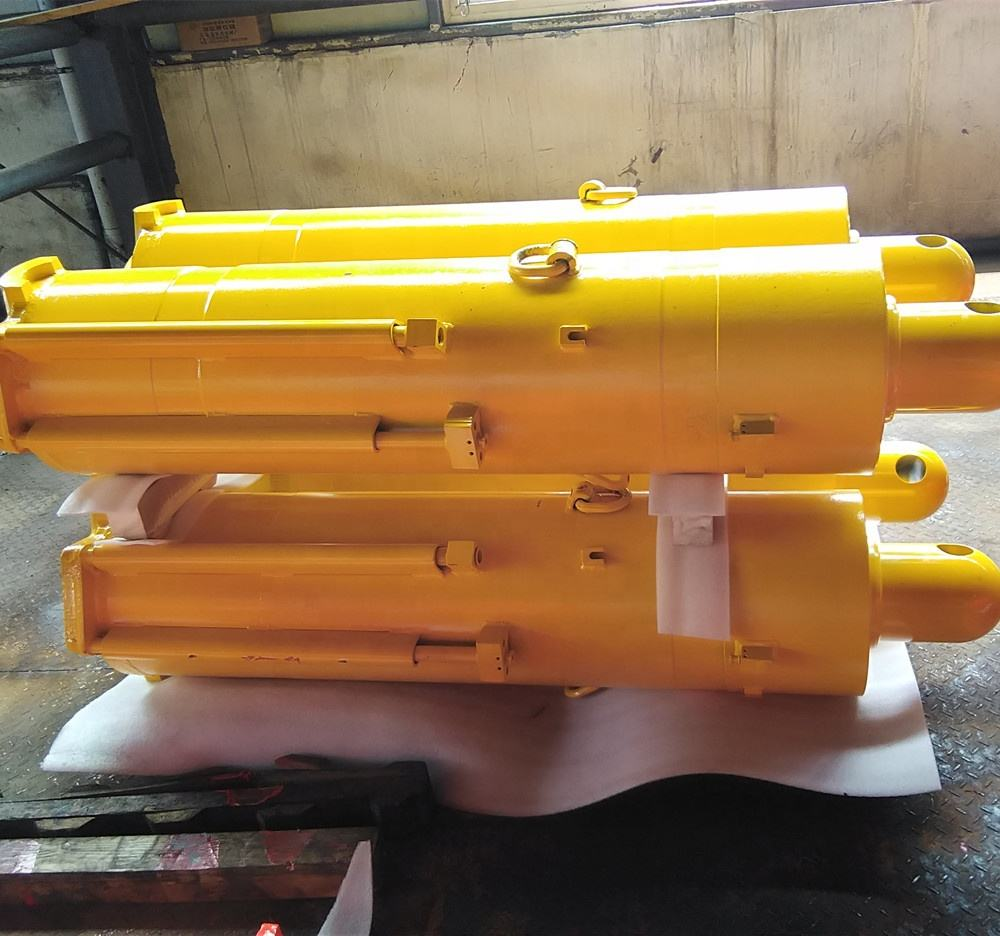 single acting hydraulic cylinder for heavy duty applications