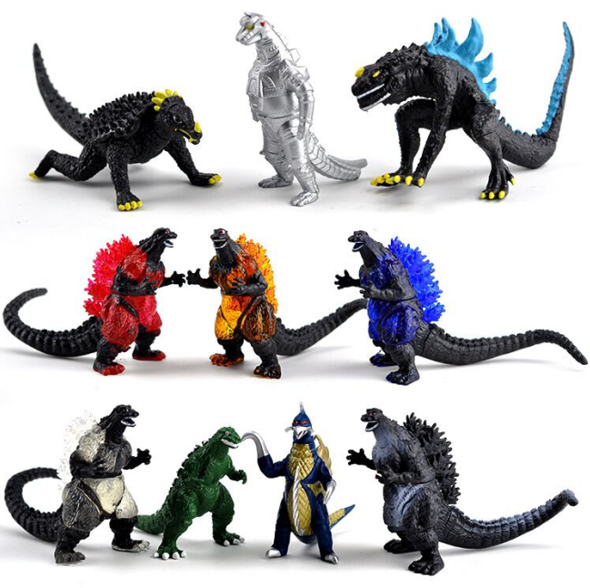 various color godzilla action figure, wholesale godzilla monster pvc toy for collection, monster planet action figure