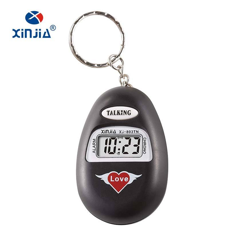 XINJIA Brand Talking Cheap Promotional Watch Clock For Blind People Talking Time With Different Languages Mini Size Hourly Chime