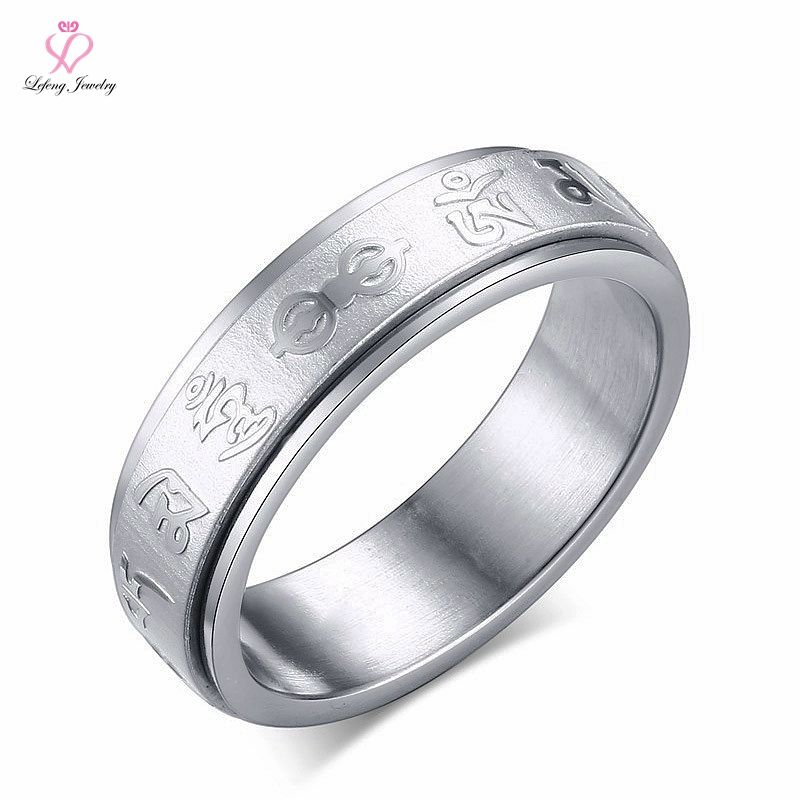 Engraved Spike 18 Kt Gold Titanium Ring, Laser Engraving 925 Silver Titanium Ring