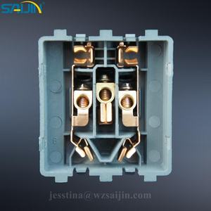 Brass Copper contact Metal Stamping Parts for Three Outlets Universal Wall Switch Socket