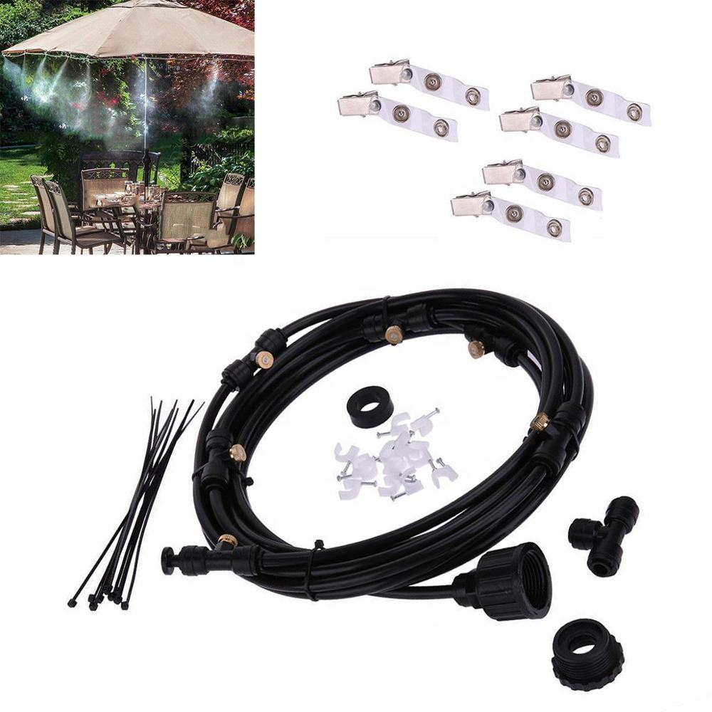 Outdoor Misting System Fan Cooler Water Cooling Portable Patio Mist Garden Kit