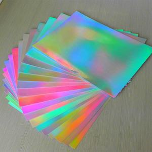 Cheap a4 holographic printable holographic sticker paper on sheet