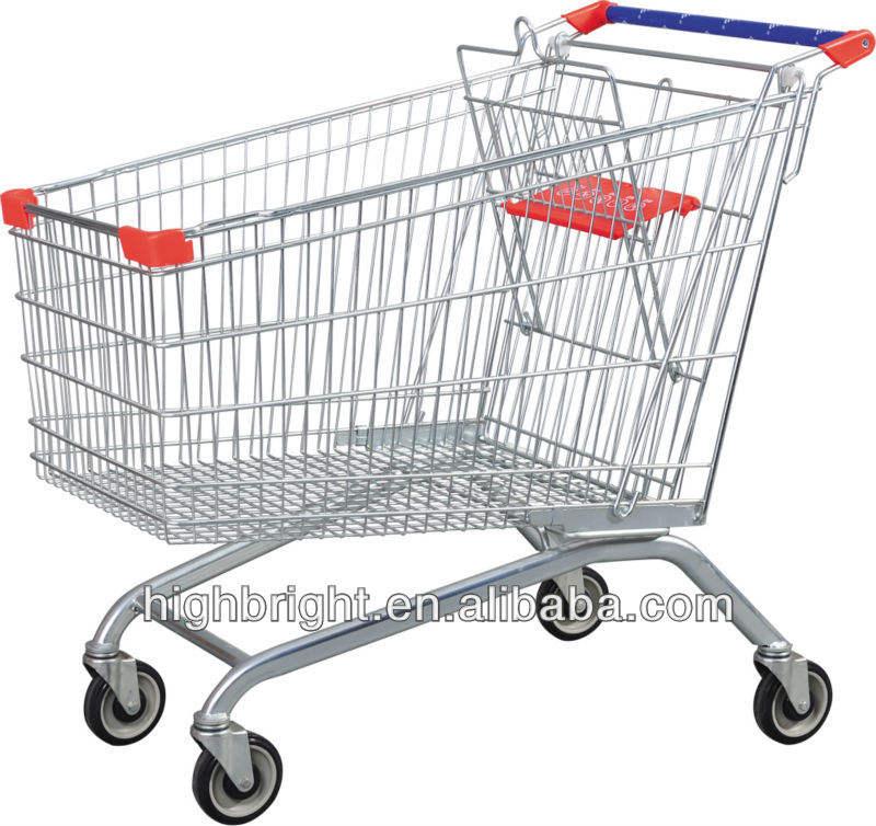 Behinderte edelstahl einkaufswagen warenkorb