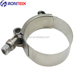 Silver Stainless Steel T-Bolt Silicone Hose Clamps For Fix Soft Pipe