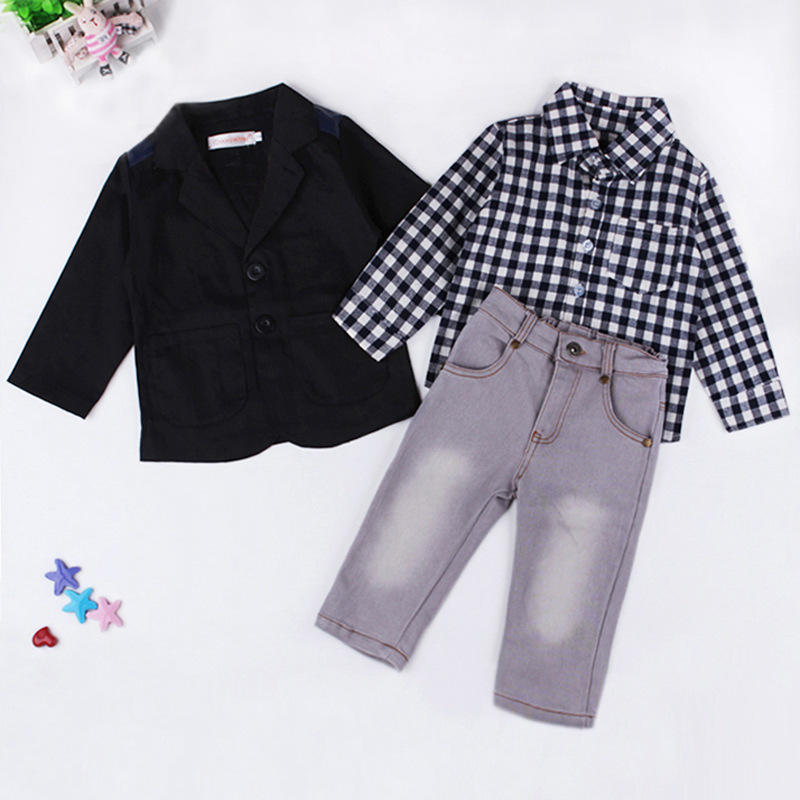 Hot Selling Kids Summer Boy Suit Baby 3 Pcs Sets Children Party Garments boyset113