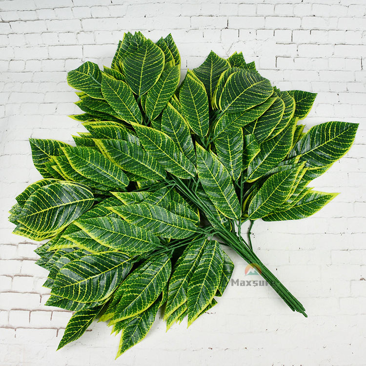 Lifelike Artificial Green Leaves for Decoration Artificial Mango Big Leaves