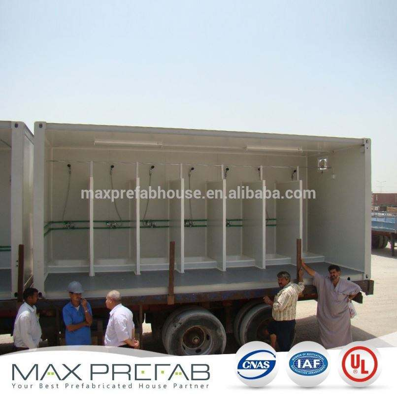 low price chinese mobile container house for toilet shower mixed container