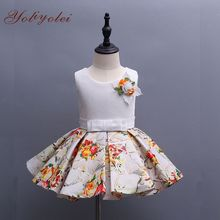 Latest Summer Cotton Little Girl Kid Frock Floral Design Dress For Baby Girl