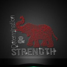 Custom delta elephant strength Garment Hotfix Crystal Patterns