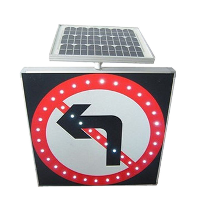 Aluminium Led Solar Verkeer Geen Links-Turn Bord
