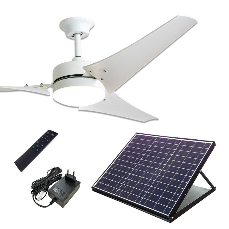 60 zoll 40W Solar Powered Decke Kühlen Fan mit Adapter