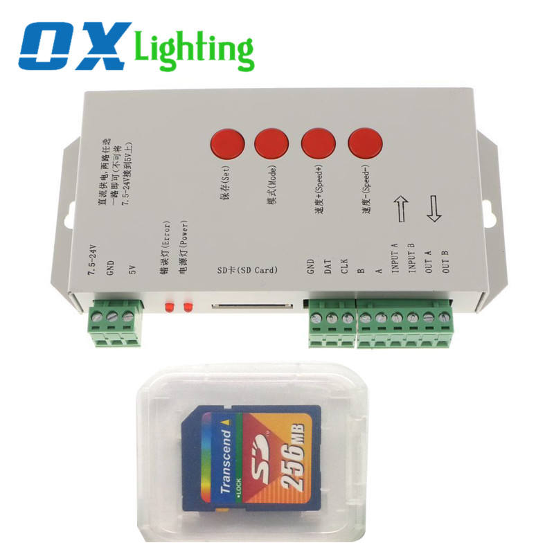 Programmable Led Light Controller SK6812 WS2811 WS2812 WS2812b WS2801 Controller SD Card for LED Strip