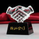 Wholesale Engraved Handshake Crystal Award Trophy for Business Gifts