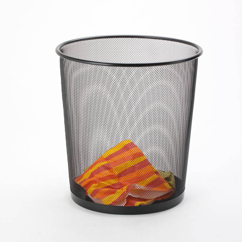 2021 China wholesaler Metal office Wire Mesh Round Trash Can/waste Bin/waste Paper Basket