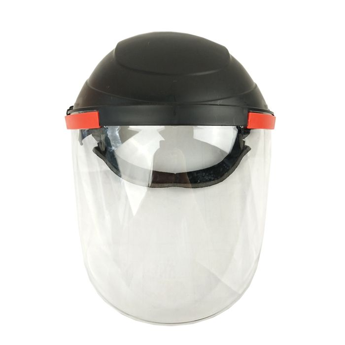 OEM LOGO Face Protection Heat Resistance Face Shield with Headgear