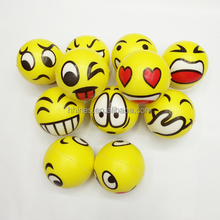 promotional children toy Customized logo squeeze emoji PU stress ball, antistress ball , PU foam ball
