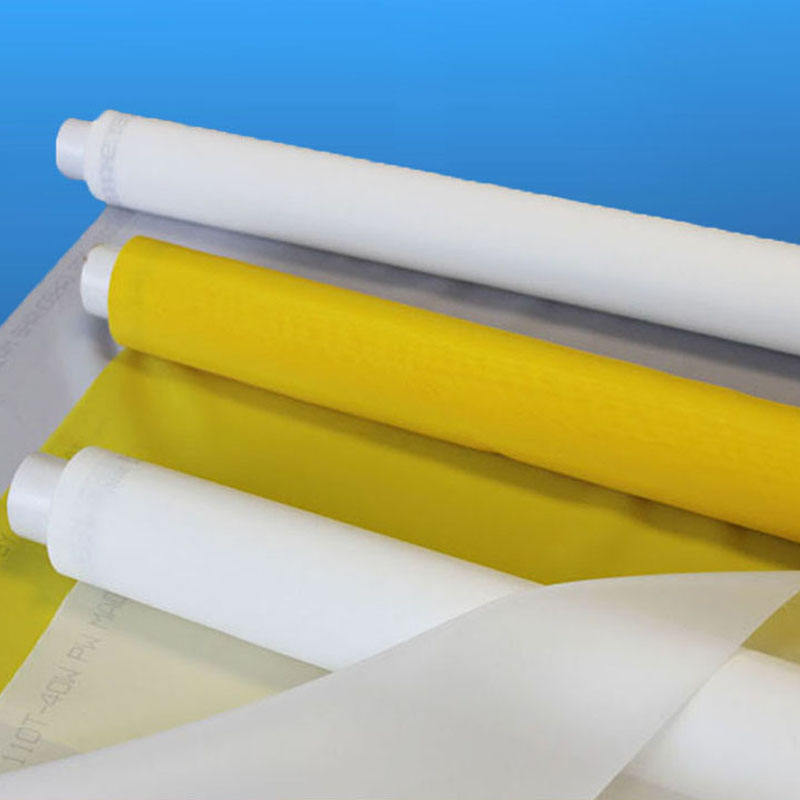 white yellow 80 100 110 120 135 150 160 180 195 200 250 300 mesh nylon polyester silk screen printing mesh for screen printing