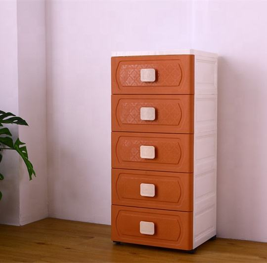 Kids Plastic Wardrobe Storage Drawers Cabinet