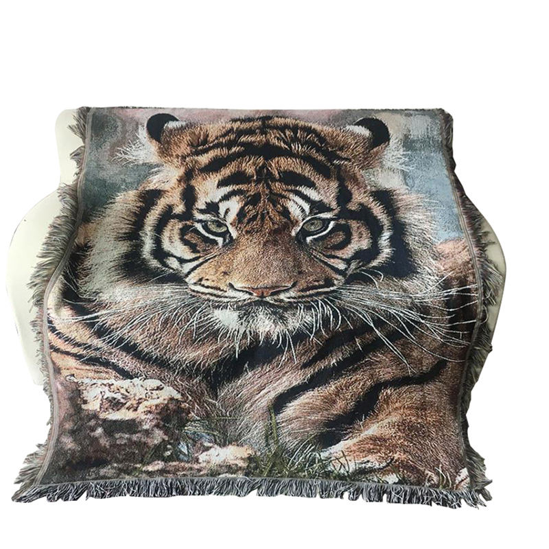 Cheap wholesale tapestry throw woven blanket for sale