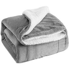 Customized Size and 100%Polyester Material Thick Fleece Blankets