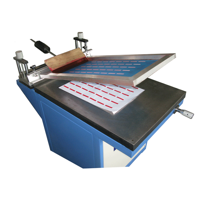 Manual sublimation paper screen printer with vacuum table