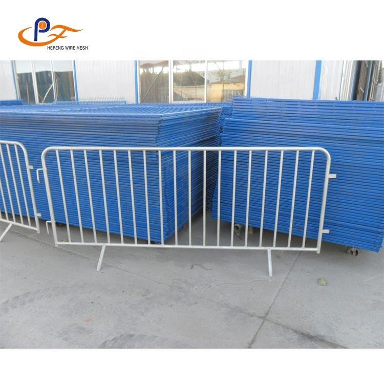 Road Safety Galvanized Security Crowd Control Barrier