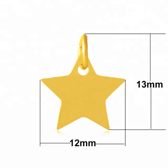 Yiwu Aceon Stainless Steel Mini Size Full Polish Nice Star Pendant Charms