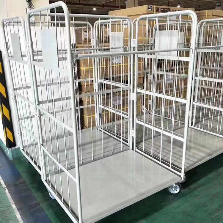Metal Storage Container Customized Logistics Trolley Warehouse