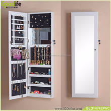 Wall mount and over the door jewelry cabinet mirrored furniture wholesale