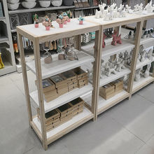 Promotion Miniso shelf retail store display stand unique rare wood furniture store racks display furniture