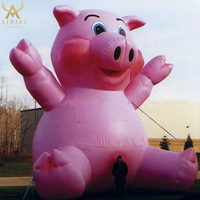 Giant inflatable pig outdoor decor animal cartoon flying pig