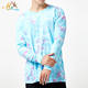The latest Design long sleeve 100% cotton tie dye t shirt for men
