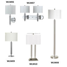 UL CUL Approved Hot Sales Modern Bedroom Hotel Table Lamp Set With White Fabric Shade WLM11