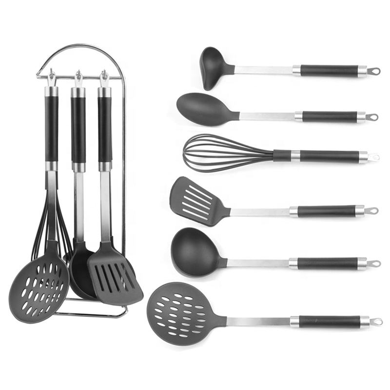 2019 kitchen tool Low MOQ 6pcs nylon kitchen utensil set cooking silicone kitchen tools