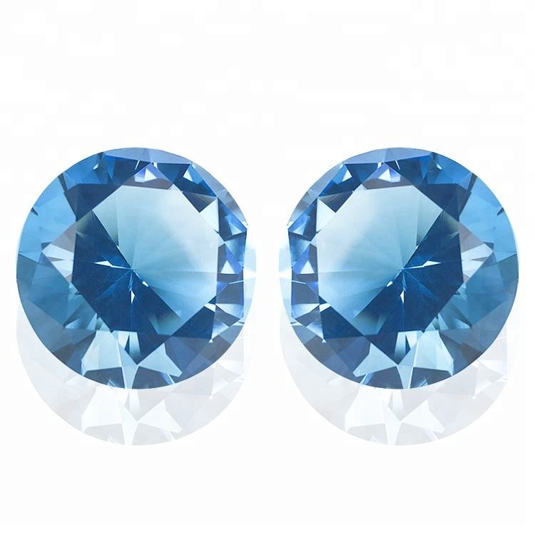 1/pcs Free Aquamarine Color Diamond Brilliant Glass Diamond Wholesale Crystal Diamond With Nice Gift Box