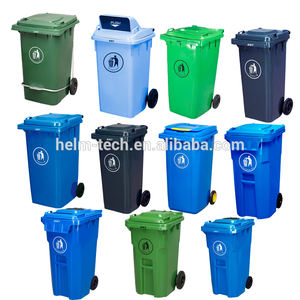 240l to 1100 liter sizes Outdoor wheelie plastic recycle bin with lid