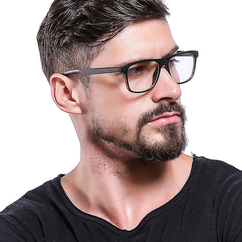 SHINELOT G8001 Newest TR90 Carbon Fiber Frame Glasses Classic Eye Glasses Frames For Men In Stock