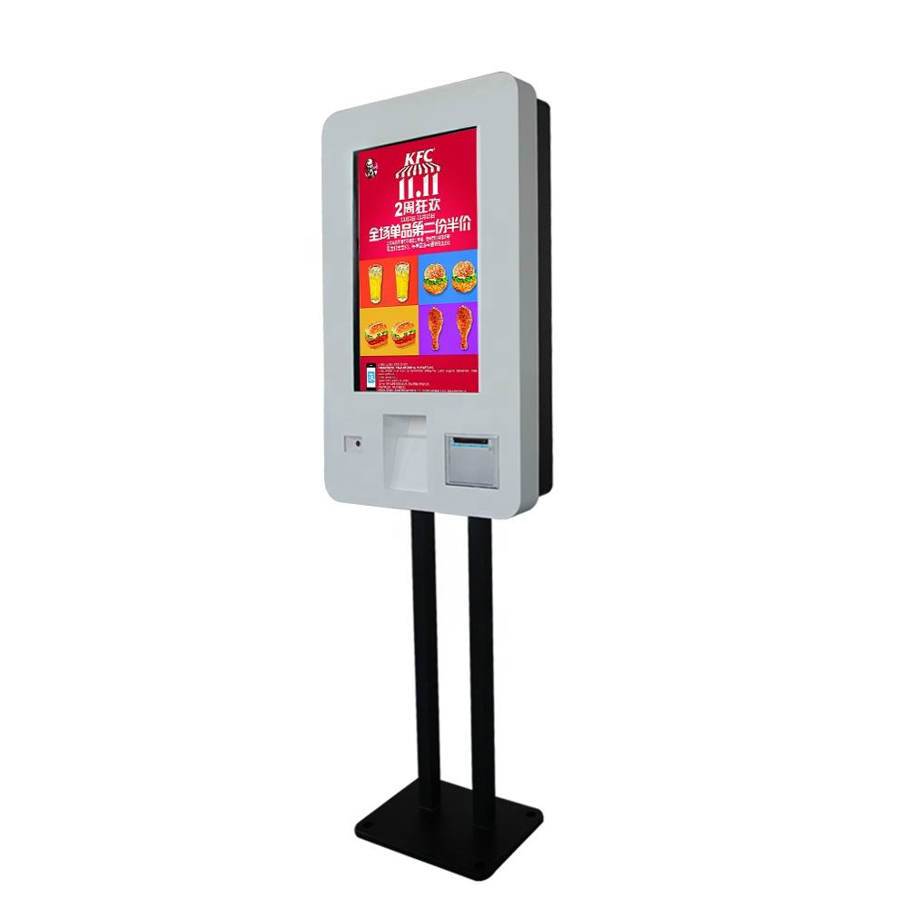 27 inch all in one Android touch screen payment kiosk with Barcode scanner/thermal printer/POS machine