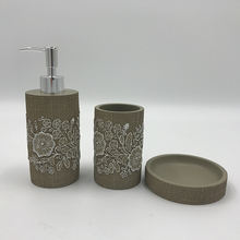 Resin bathroom accessories set with modern design Wholesale Polyresin Bathroom Sets