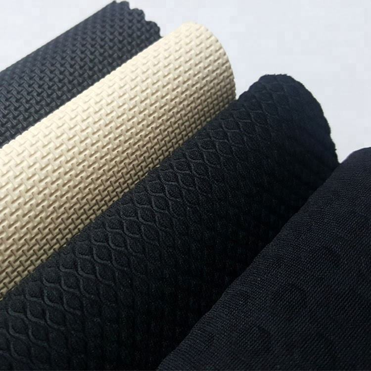 Jianbo Embossed colorful Nylon neoprene foam sheet/neoprene fabric Roll with polyester coating
