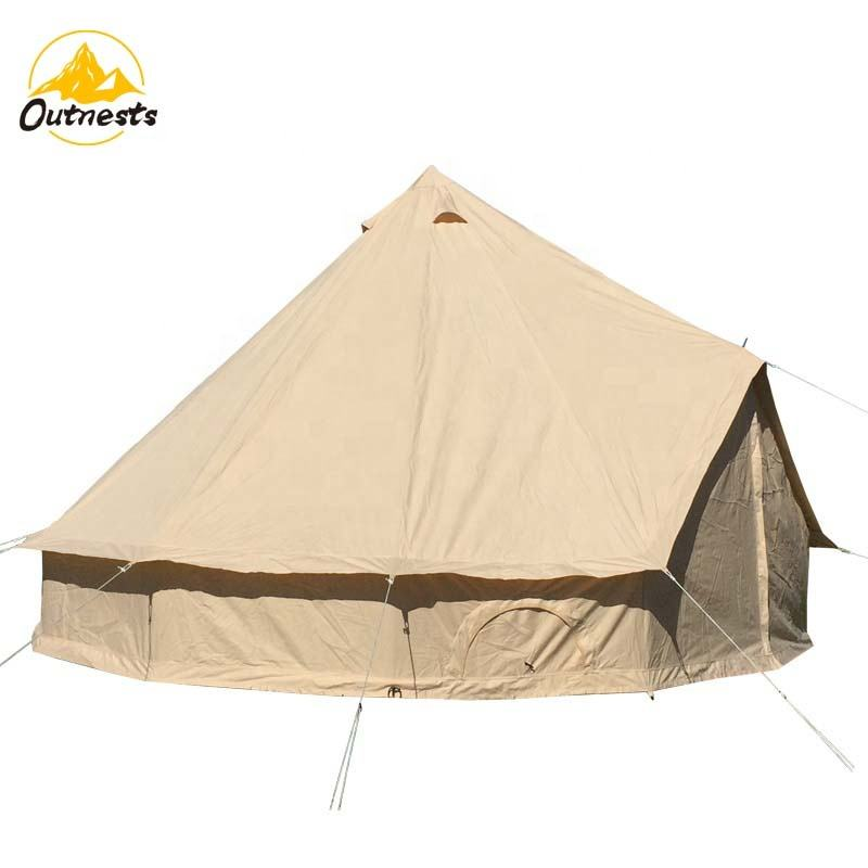 7m 6m 5m 4m 3m Cotton Canvas Bell Tent For Glamping Safari Tent