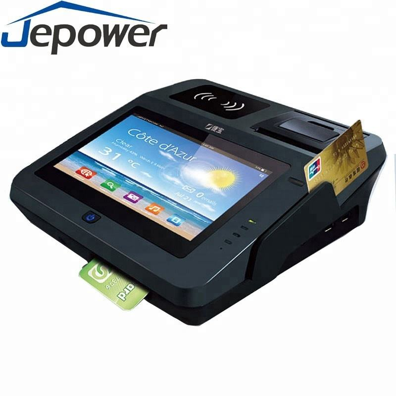 Jepower JP762A EMV Certified Credit Card Pos Terminal with Printer NFC/GPS /3G /2D barcode /WiFi / Android OS