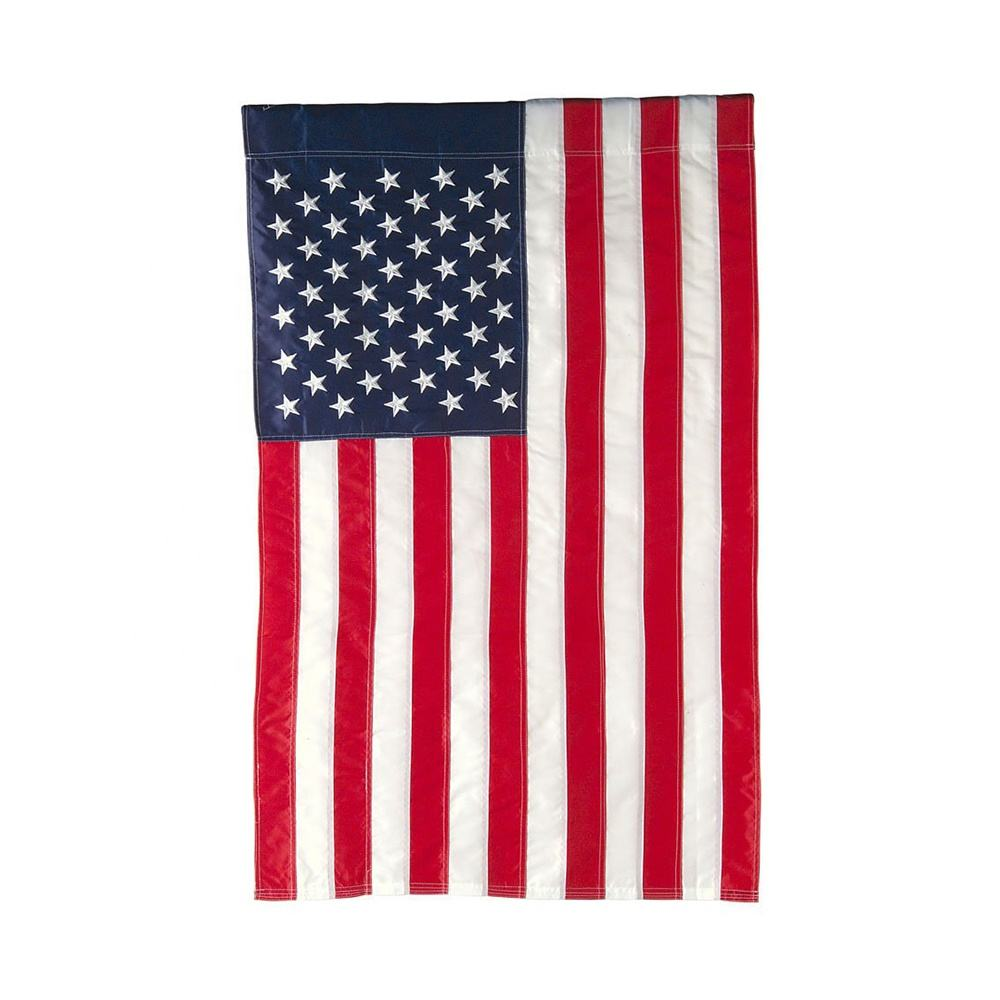 Embroidery Flag American national country Double Sided Applique Garden Flag