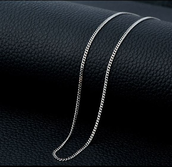 wholesale 1.0 mm Side chain 925 italy silver necklace 18 inch