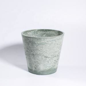 AYT40-021 large light colored stone vein flower pots eco-friendly plant pots for sale