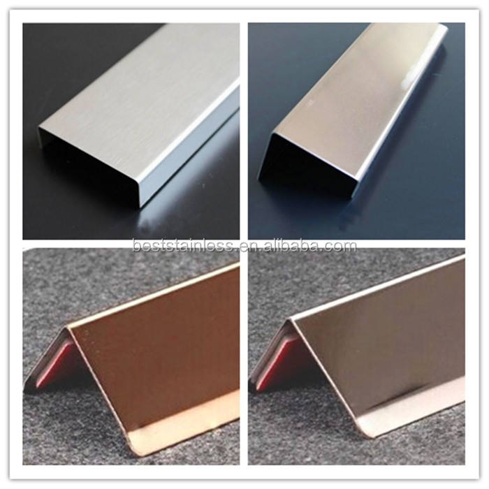 Decorative Stainless Steel Metal U Shaped Beam Transition
