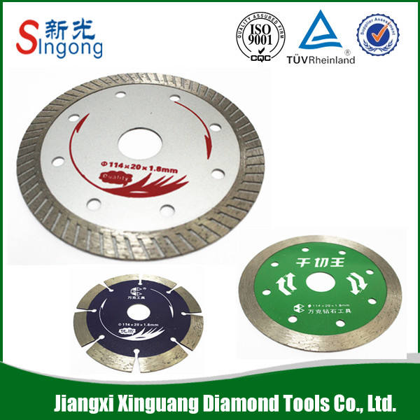 "diamond saw blade dry cutting 5/8"" 8600 rpm factory directly"