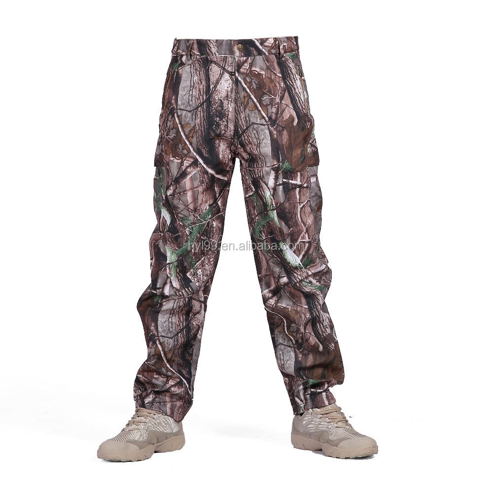 FLYGAGA Mens Soft Shell Trousers Hiking Trousers Outdoor Trousers Functional Warm Waterproof Windproof Fleece Lined Softshell Winter Trousers
