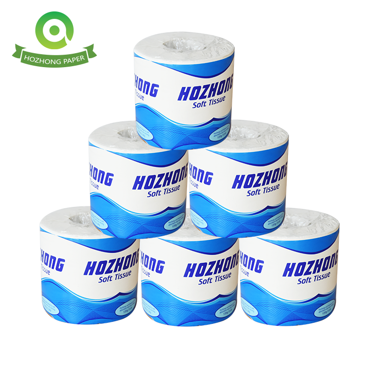 hot sale recycled paper toilet tissue with blue individual wrapping